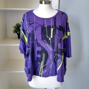 DIESEL Retro T-shirt One Size Purple Abstract